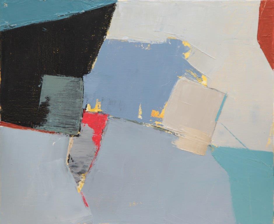 Bernadette Goerger, Sans titre 10, huile sur toile, 38 x 46, Cubisme