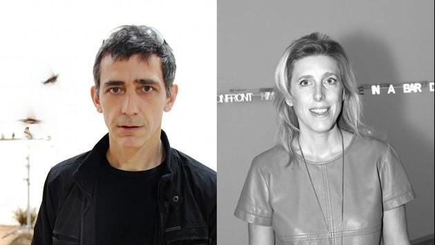 Céleste Boursier-Mougenot (© Eliot Wyman 2010) et Emma Lavigne (© Hervé Véronèse) - Biennale de Venise