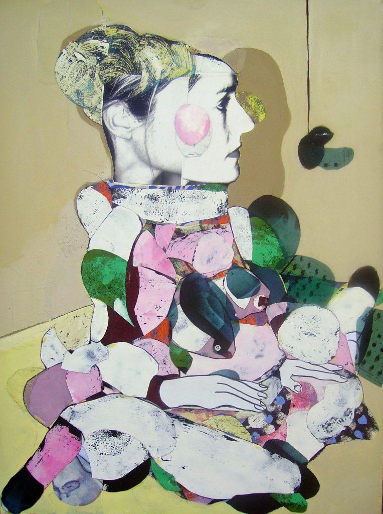 Pascal Marlin, Ballerine, technique mixte sur toile, 130 x 97, tirage limité (20 ex.), Cubisme