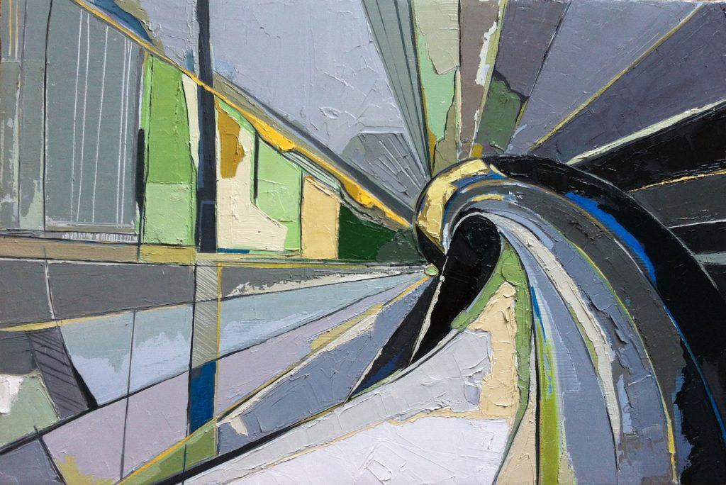 Marie-Astrid Grivet, Aspiration, huile sur toile, 40X60