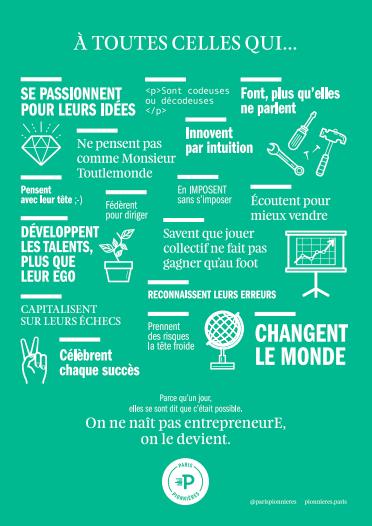 Manifesto incubateur Paris Pionnières