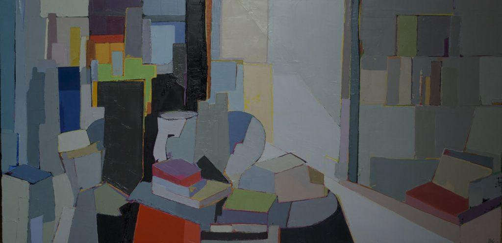 Marie-Astrid Grivet, Collection, huile sur toile, 60X120