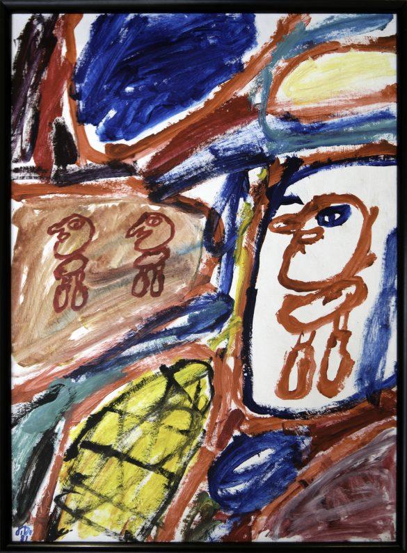 Jean Dubuffet -Site avec 3 personnages - 1981
