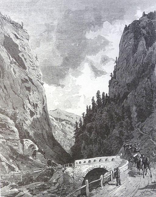 Themistokles von Eckenbrecher, Graubünden in alten Ansichten; Schriftenreihe Rätisches Museum, Casanova Verlag,vers 1865.