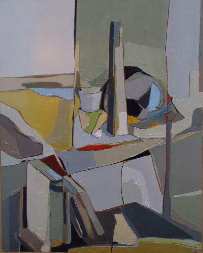 Marie-Astrid Grivet, Silence, huile sur toile, 100x80