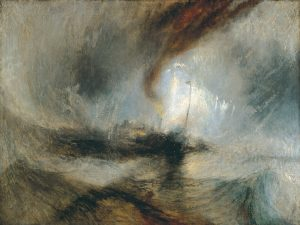 """Tempête de Neige"" exposé en 1842 de J.William Turner Snow Storm - Steam-Boat off a Harbour's Mouth making Signals in Shallow Water, and going by the Lead"