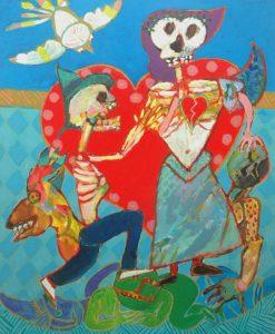 Amor à mort, Jacky Chriqui | Acrylique sur toile, 64 x 54 cm