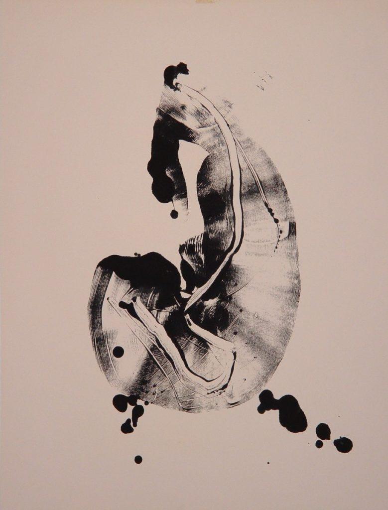 Frédéric Belaubre, Crevette, Estampe sur papier, 65 x 50 cm