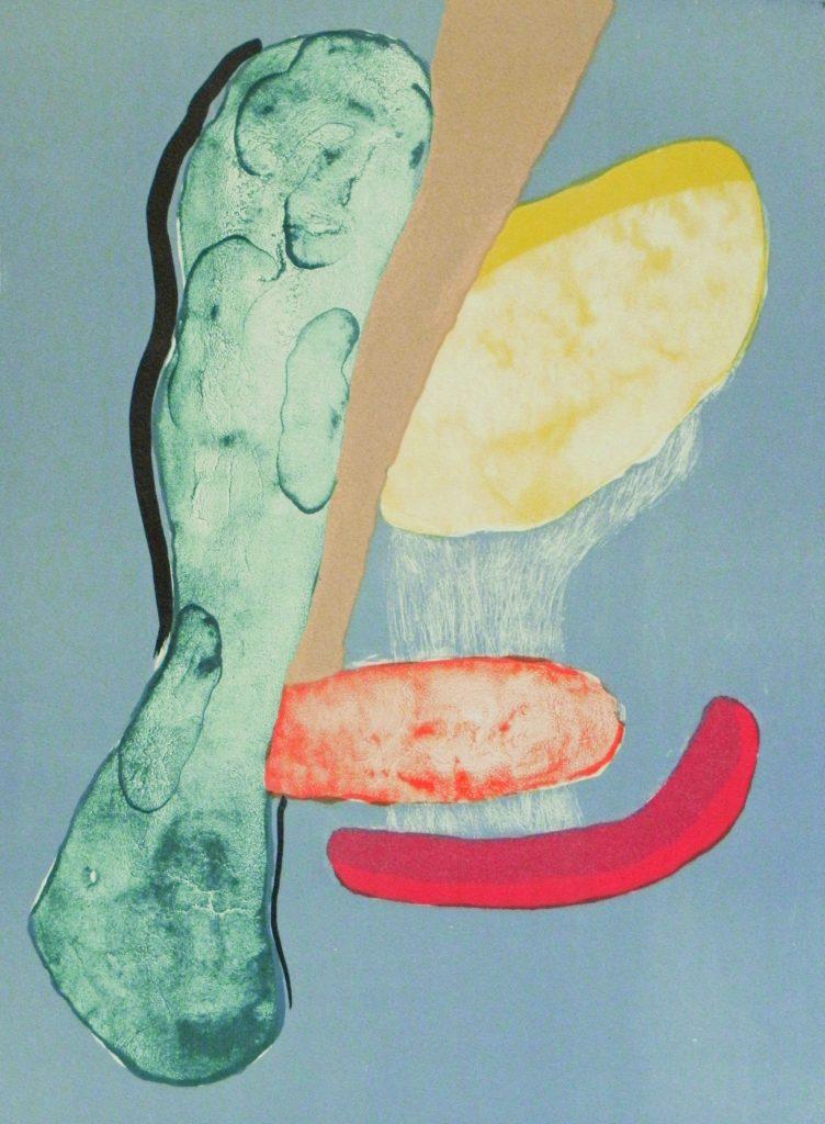 Mariella Lanata, soutien du rouge, lithographie sur papier, 40 x 30
