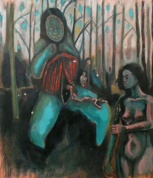 Emilie Lagarde, L'oubli, peinture à l'huile, 114X97