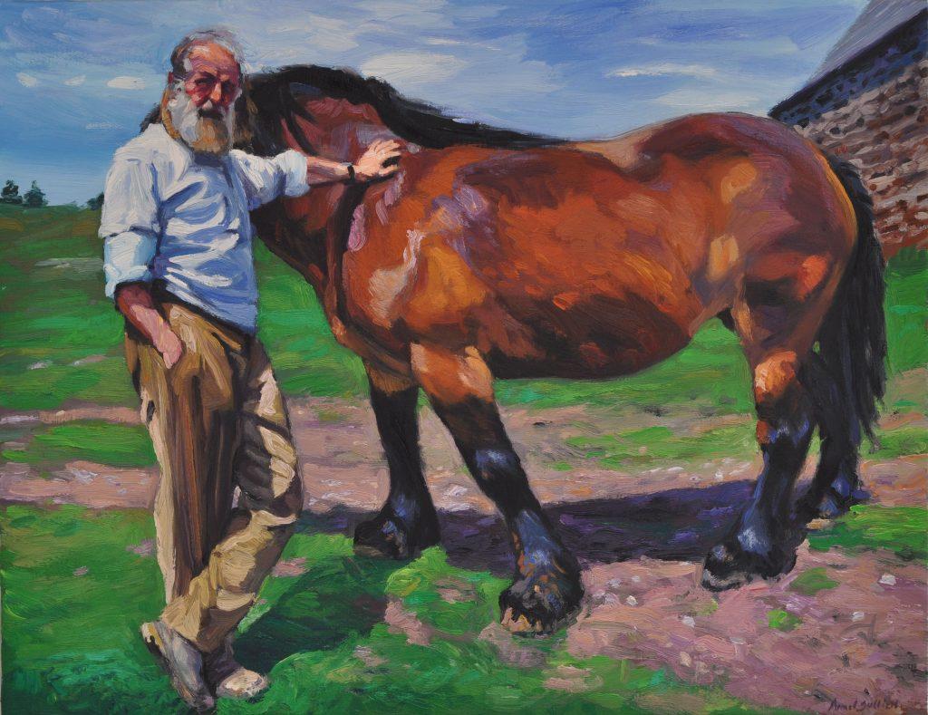 Armel Jullien, Fonteysse, huile sur toile, 50X65