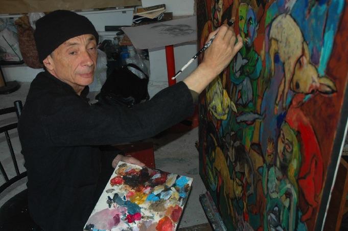 Jacky Chriqui dans son atelier