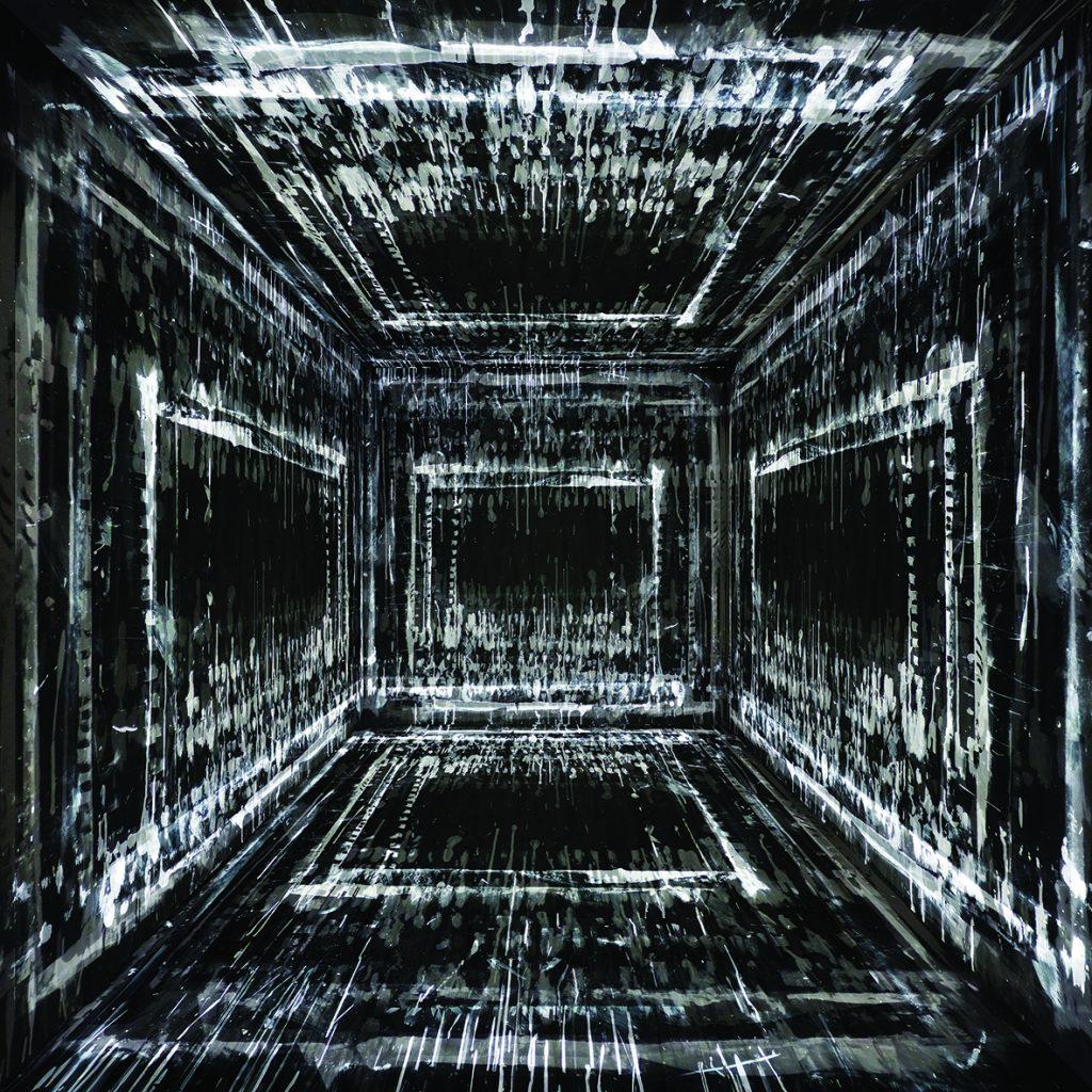 Micher Vautier, Fond profond noir E, estampe sur papier, 50x50