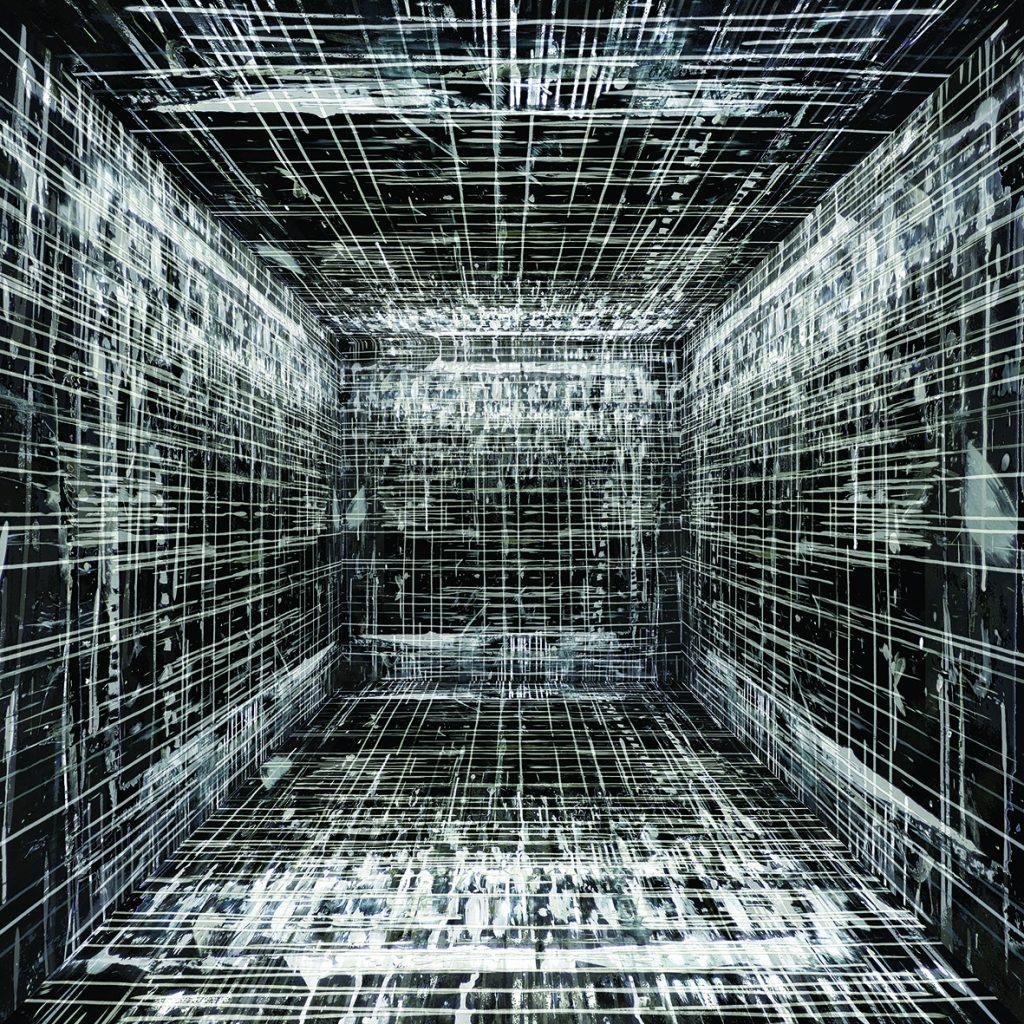 Michel Vautier, Fond profond noir F, estampe sur papier, 50x50
