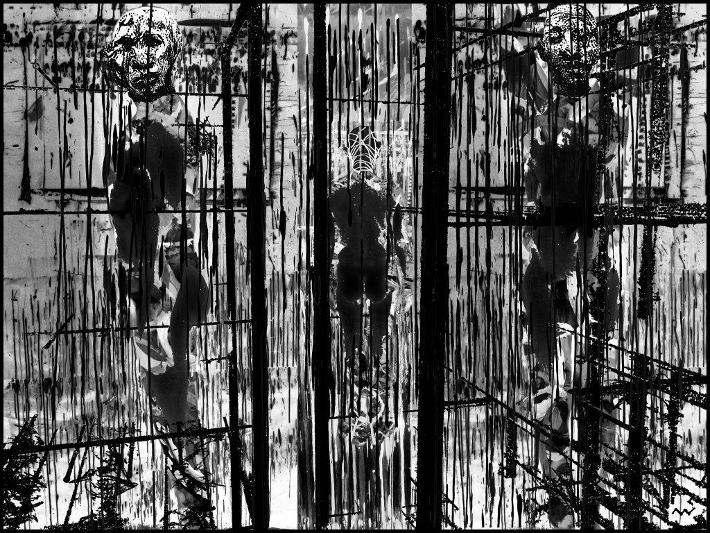 Michel Vautier, Automythologie 4, estampe sur papier, 60x80