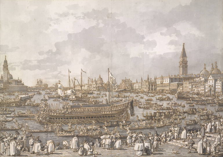 Le Doge de Venise, départ pour le Lido, Antonio Canaletto, 1712-1768