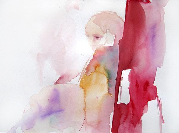 Chagrin, Sylvia Badeva, 29x39, aquarelle sur papier