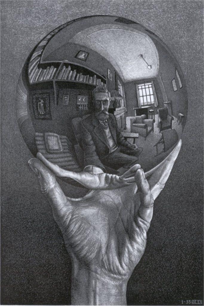 MC Escher, Main se reflétant dans une sphère