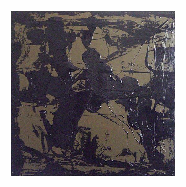 Altone Mishino, Interior Movements 9, technique mixte sur toile, 100x100