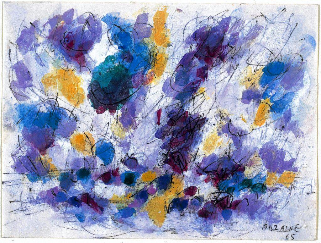 Saint Guénolé 1965, Jean Bazaine, aquarelle et encre de chine