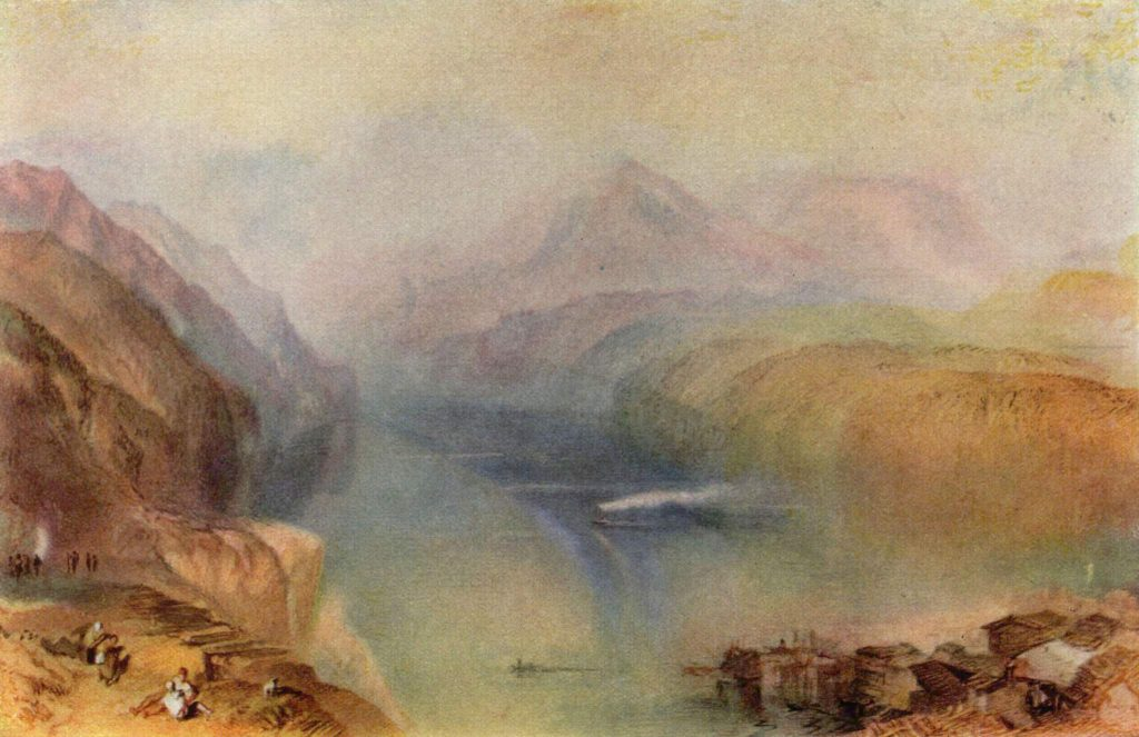 Der Vierwaldstätter See, William Turner, 1802, aquarelle