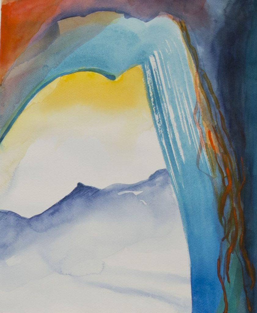 La porte, Mariella Lanata, 39.8x32.2, aquarelle