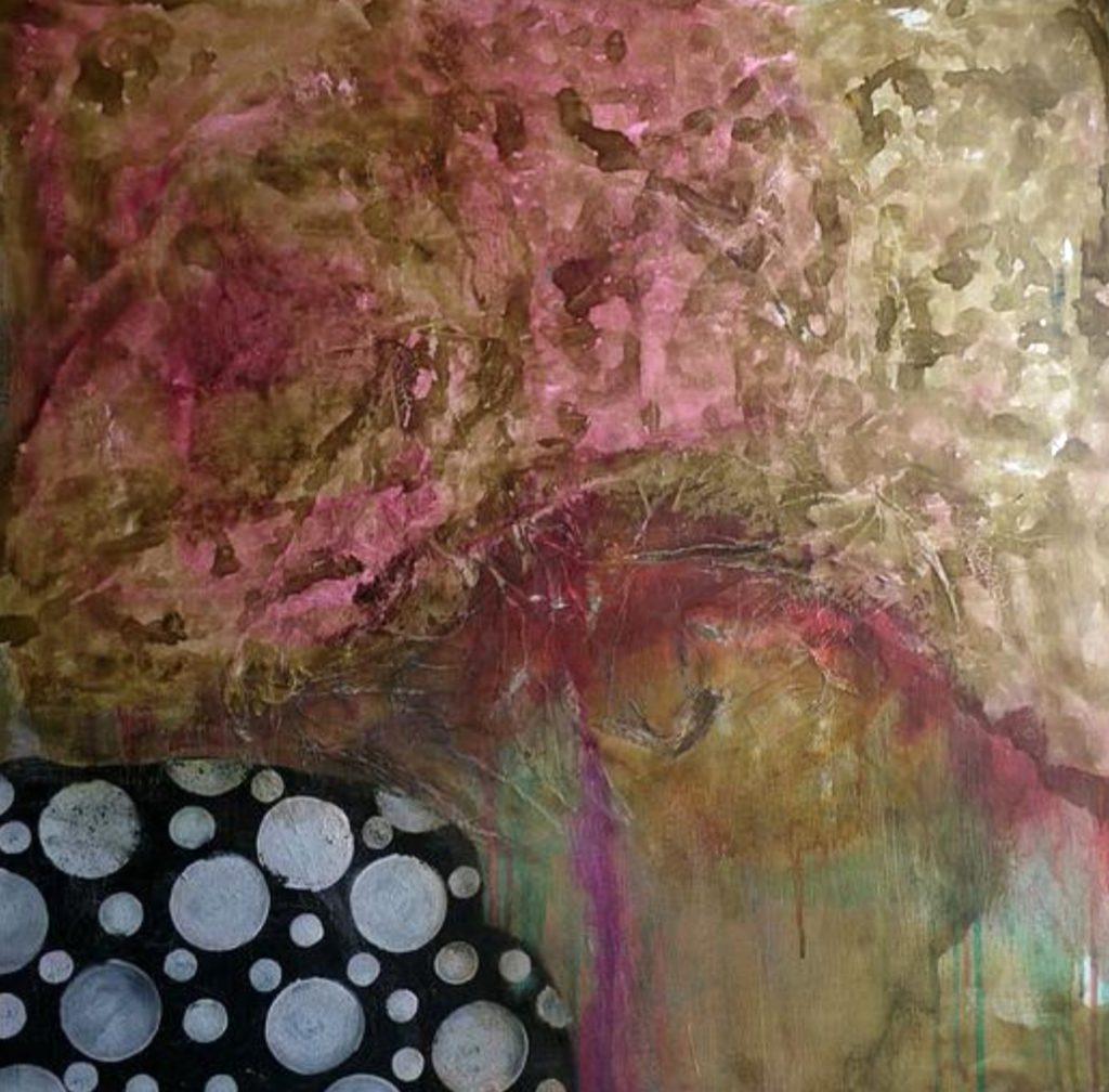 La vie secrète du cercle 1, Sofia Barao, 60x60, aquarelle