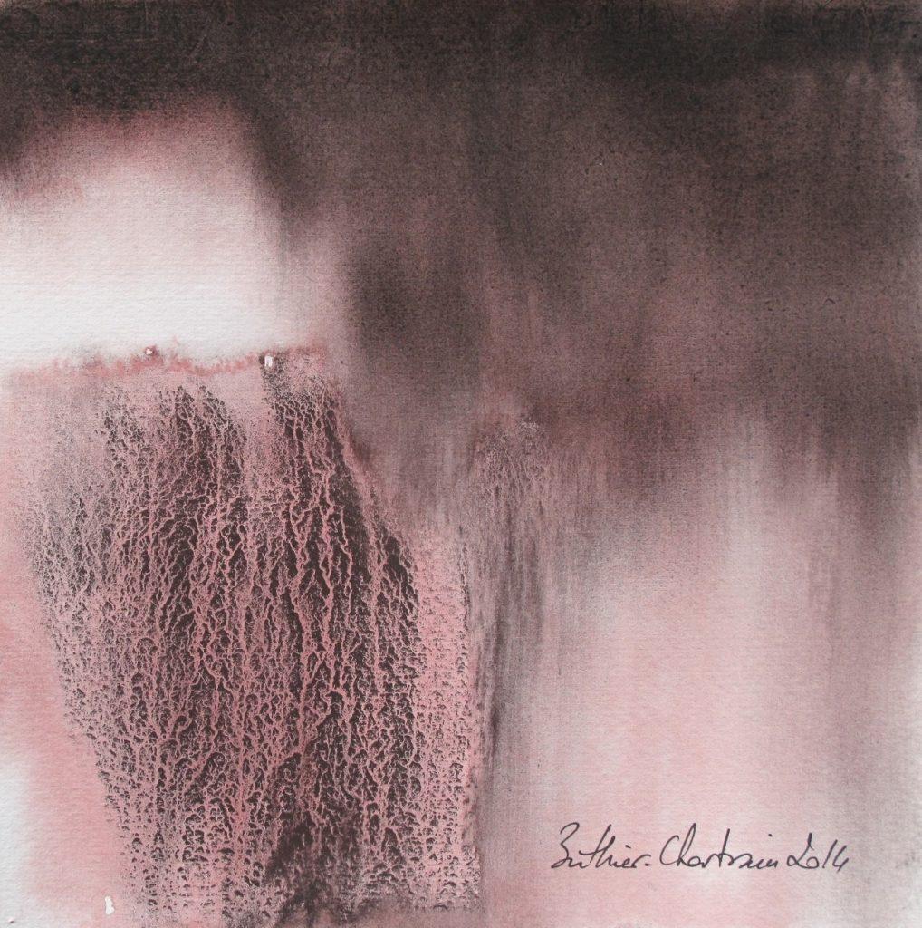 L'absence, Muriel Buthier-Chartrain, 18x18, aquarelle