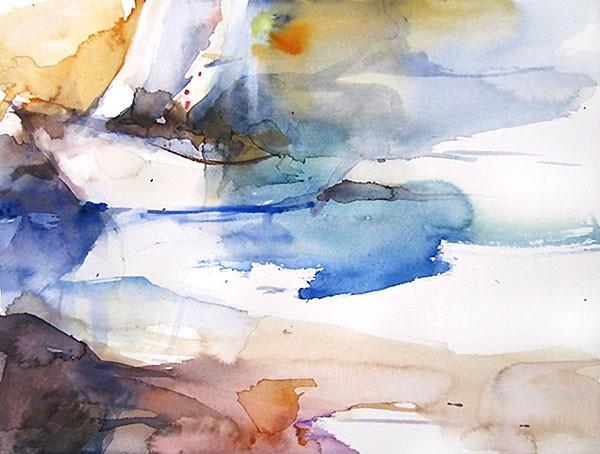Le bateau, Sylvia Baldeva, 24x32, aquarelle sur papier