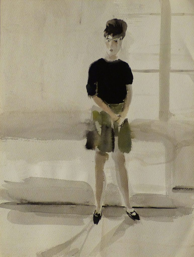Modèle 3, Frédéric Belaubre, 41x31, aquarelle