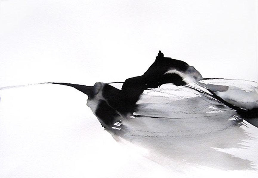 Sur la colline, Sylvia Baldeva, 30x41.5, aquarelle sur papier