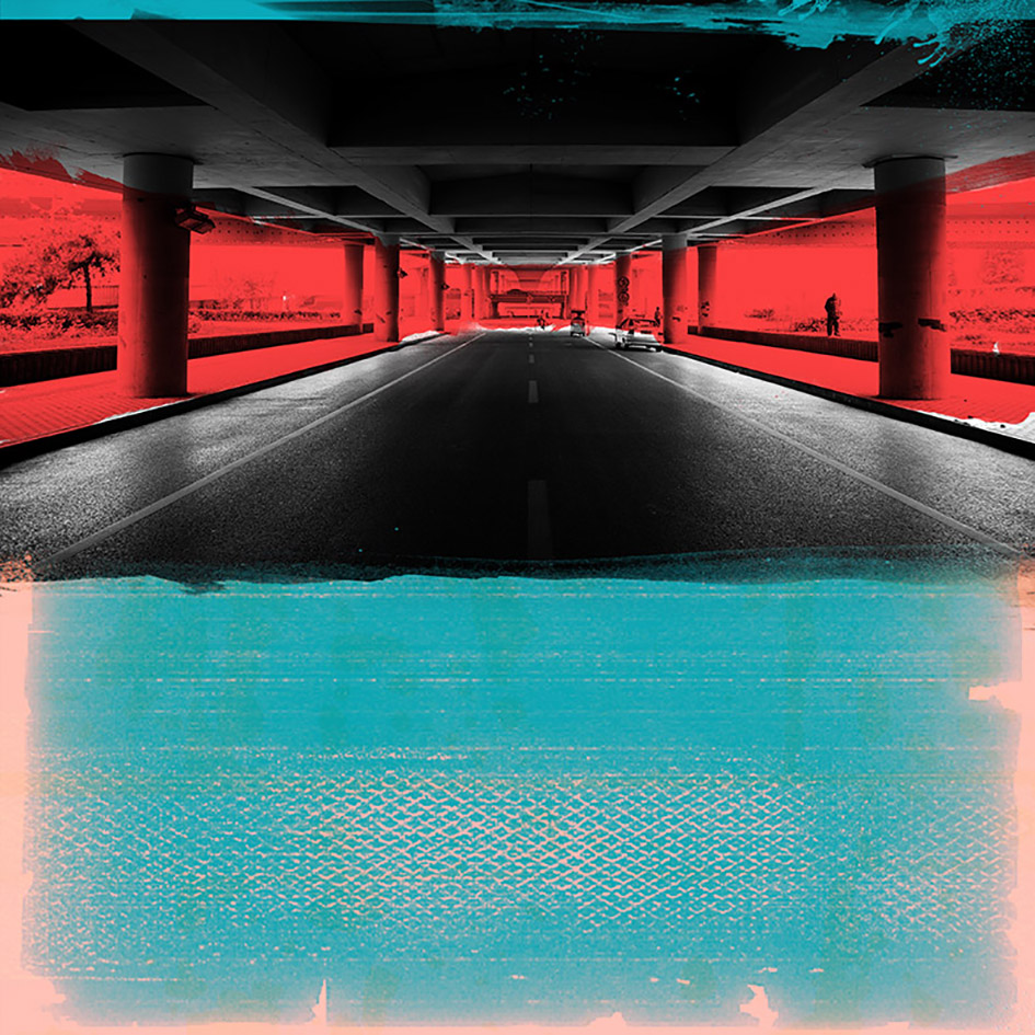 Laurent Allory, Under the Highway 1, photographie sur aluminium, 110x110