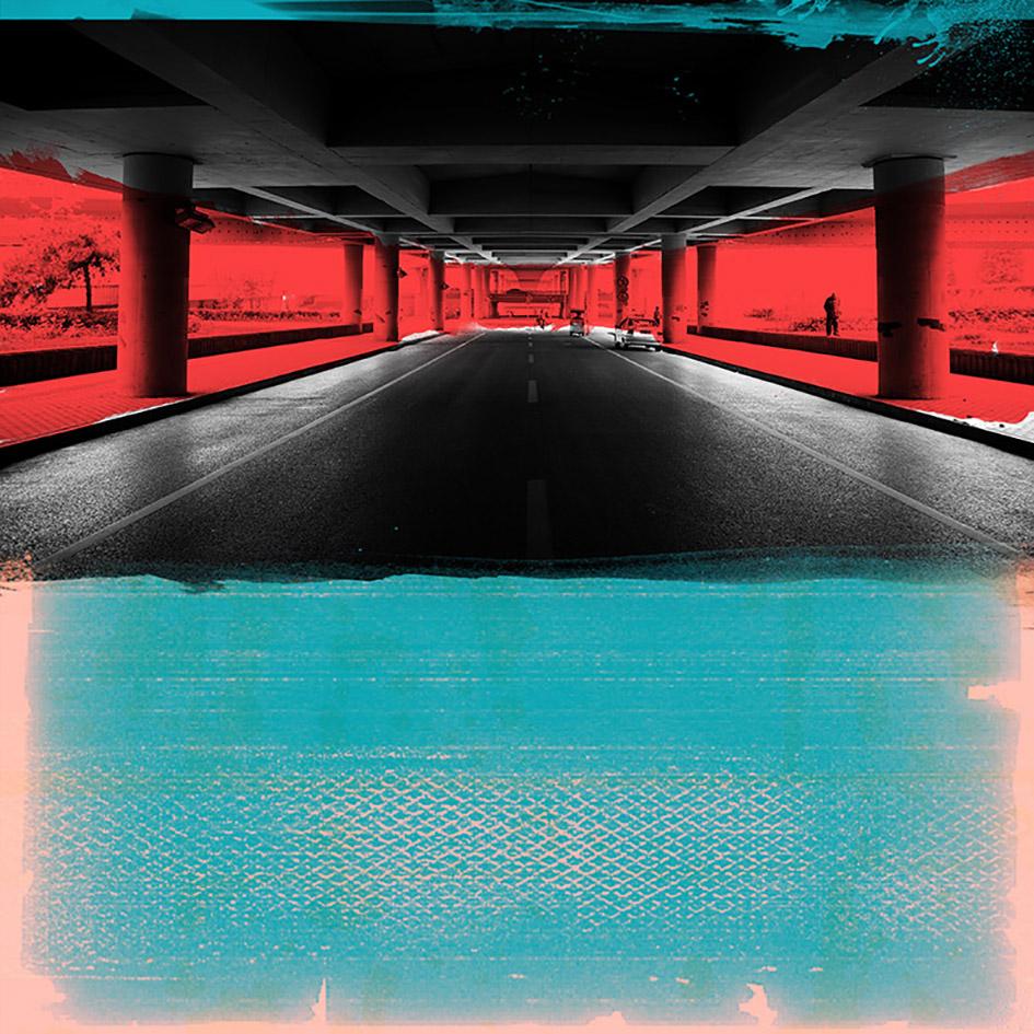 Laurent Allory, Under the Highway 1, photographie sur aluminium, 110x110