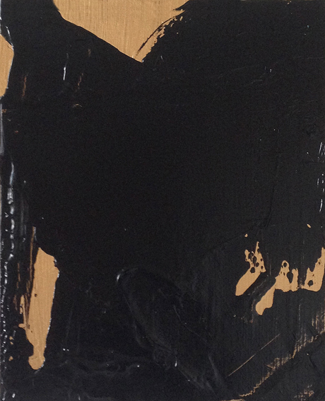 Altone Mishino, Untitled II, technique mixte sur toile, 20x15