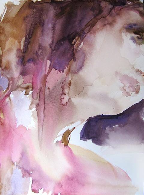 Vers le haut, Sylvia Baldeva, 32x24, aquarelle sur papier