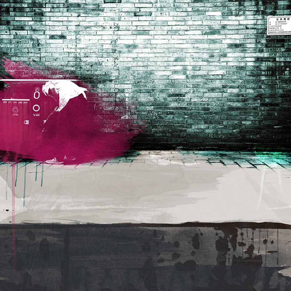 Laurent Allory, Wall 4, photographie sur aluminium, 110x110