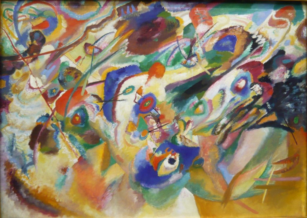 Study for Composition VII, Wassily Kandinsky,1913, aquarelle