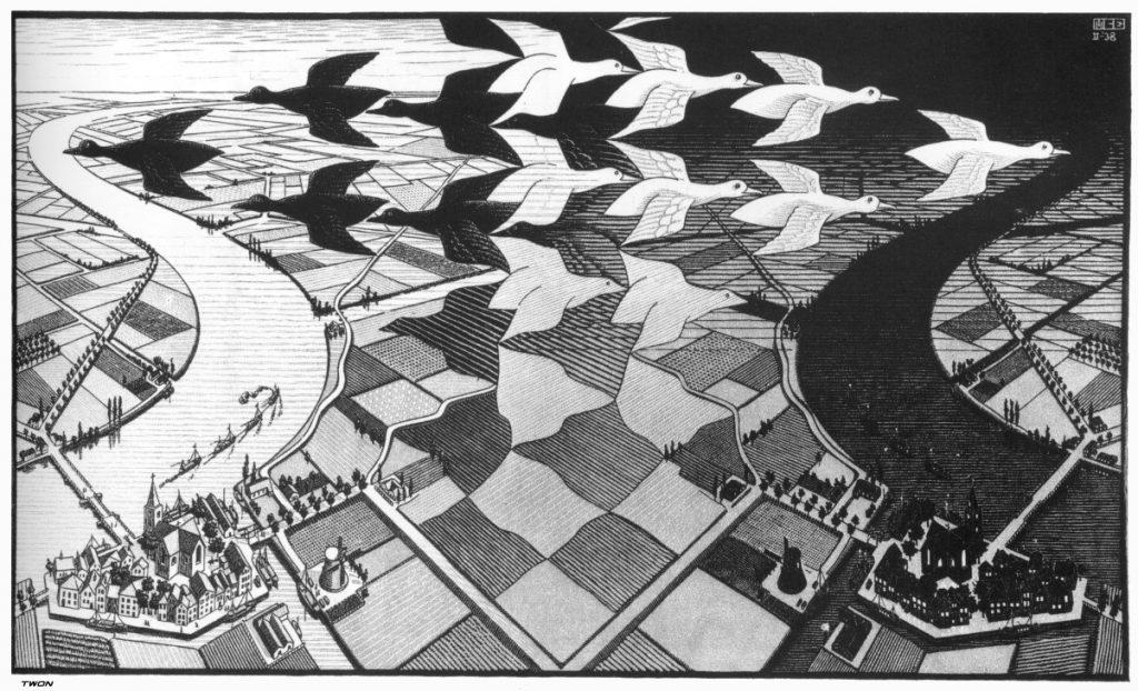 MC Escher, Jour et nuit