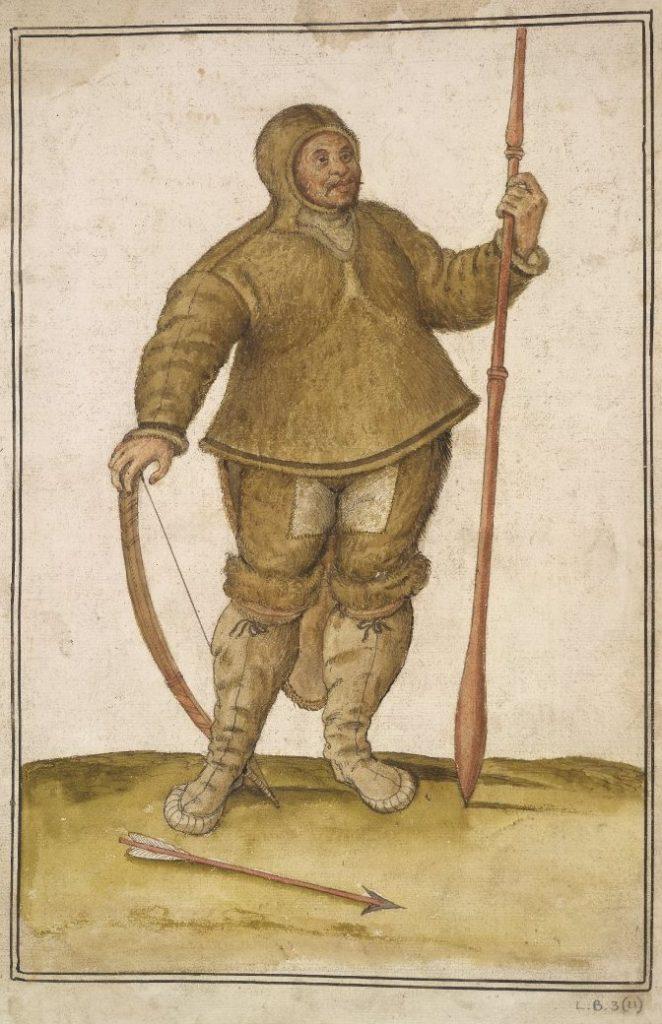 John White, Chasseur Inuit, 16es, aquarelle