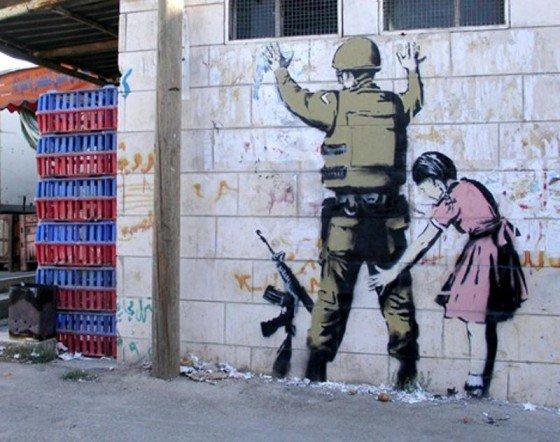 Le Soldat et la Petite Fille - Banksy - (c) Frédéric Joignot
