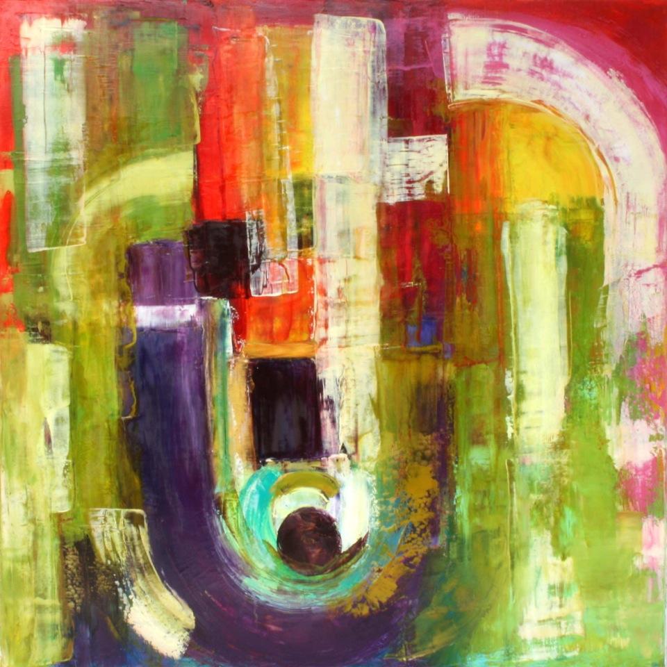 Unité - Sandrine Jarrosson, huile sur toile, 110 x 110