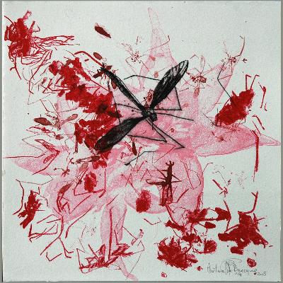 Carnage 13 novembre 2015, Martine de Baecque - Lithographie