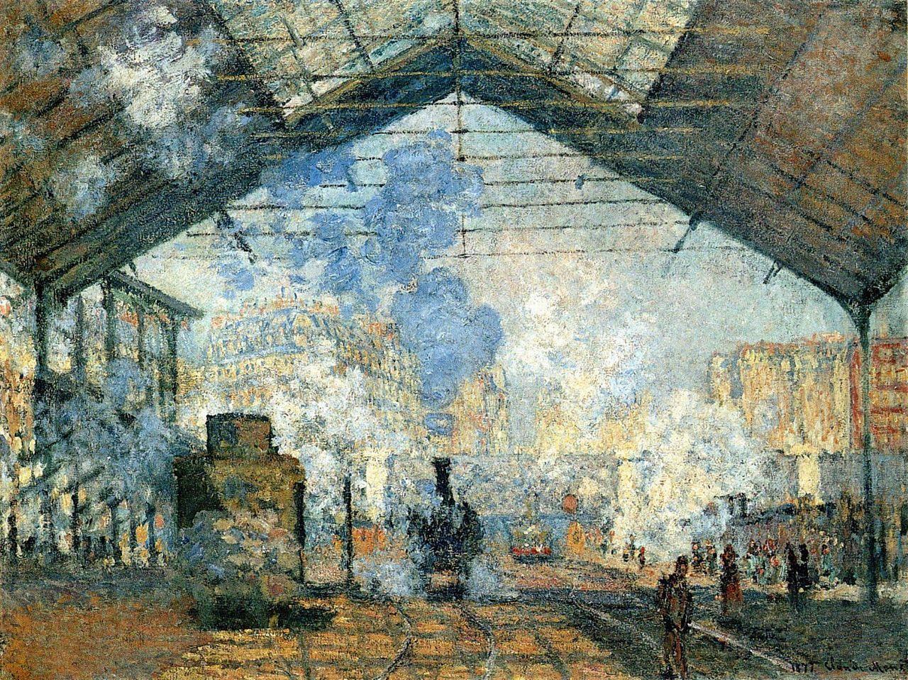 Claude Monet - La Gare Saint-Lazare - Blog Guillaume Loubet - KAZoART