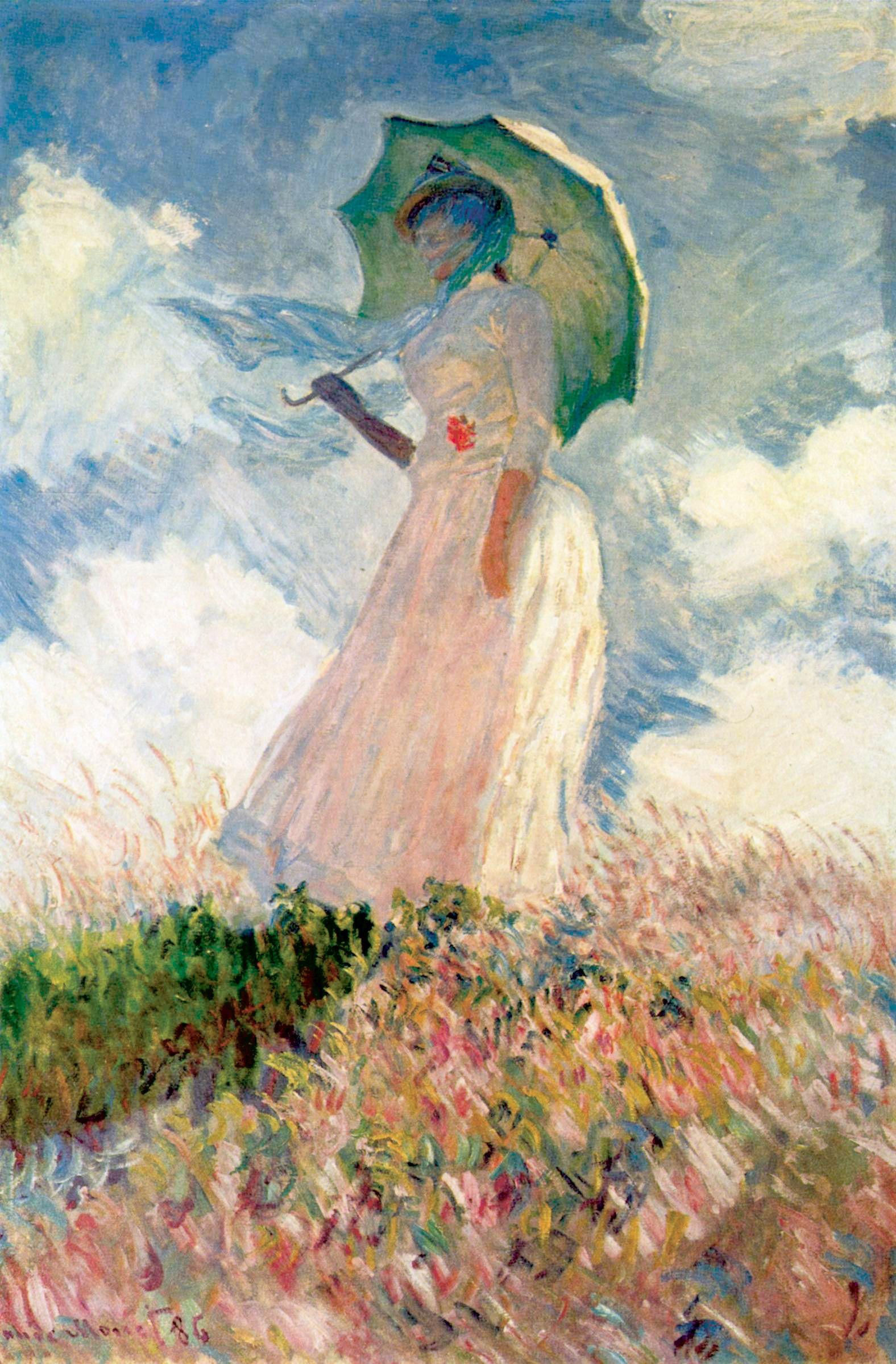 Claude Monet - Femme à lombrelle tournée vers la gauche - Blog Guillaume Loubet - KAZoART