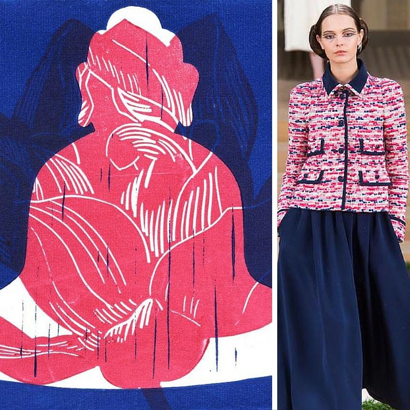 Le bouddha bleu + lotus rose d'Olivier Morel chez KAZoART vs collection Chanel 2016