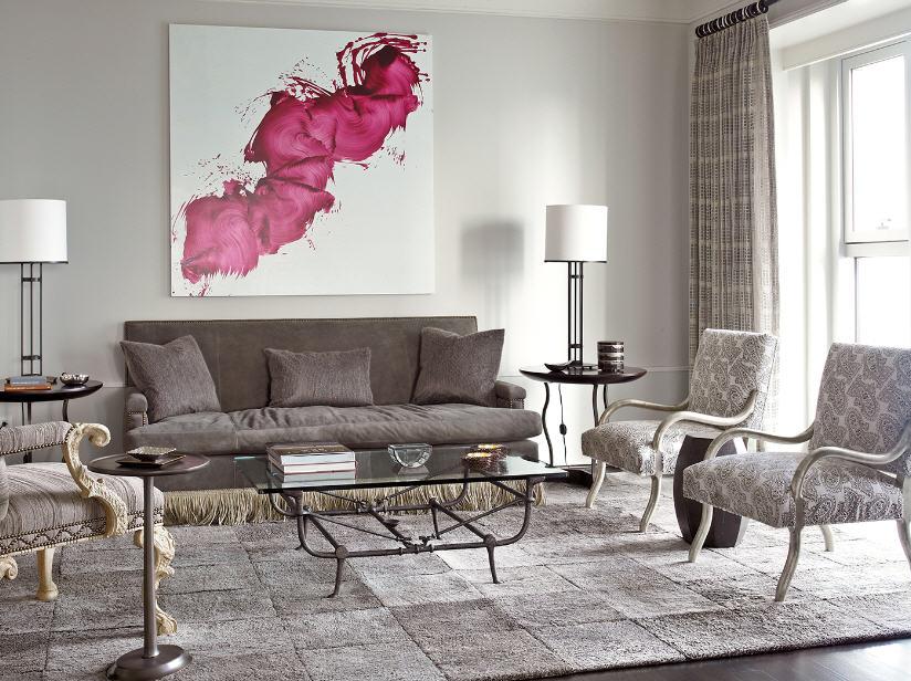 Salon couleurs neutres photographie proposée par Designmag.fr© - KAZoART