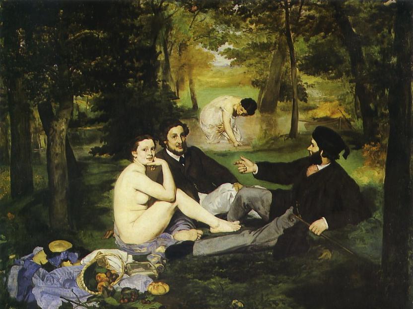 Edouard Manet - Le Déjeuner sur l'herbe - Lily et ses livres