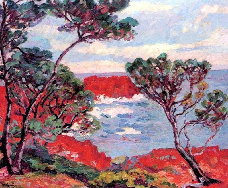 Armand Guillaumin - Les Rochers Rouges - Pauledel Blog - KAZoART