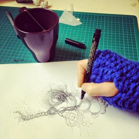 Iris Gallarotti - Atelier en hiver - KAZoART