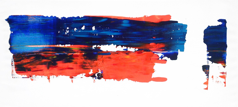 Océan bleu orange - Helmut Dippold - KAZoART
